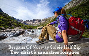 Actualité : Test du tee-shirt Bergans of Norway Soleie Half Zip