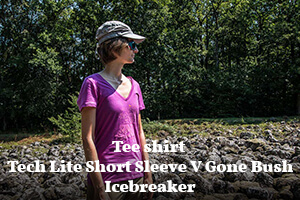 Actualité : Tee shirt Icebreaker Tech Lite V Gone Bush