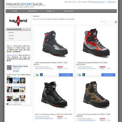 Chaussures de randonnée Kayland sur Private Sport Shop