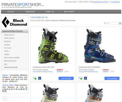 Black Diamond sur Private Sport Shop