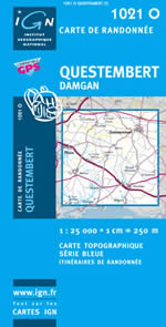 Carte IGN Top 25 n°1021 OT