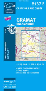 Carte IGN Top 25 n°2137 ET
