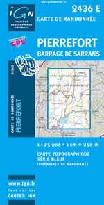 Carte IGN Top 25 n°2436 ET