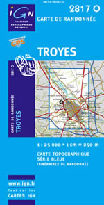 Carte IGN Top 25 n°2817 OT