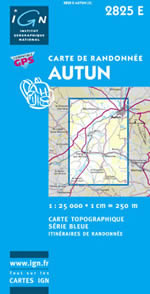 Carte IGN Top 25 n°2825 ET