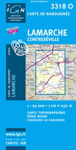 Carte IGN Top 25 n°3318 OT