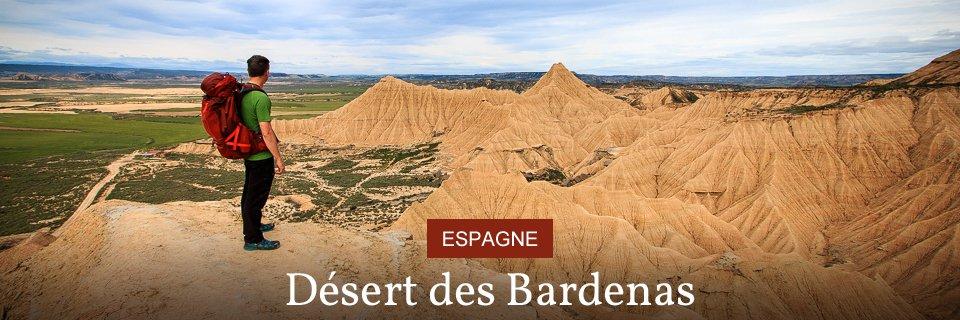 carte espagne desert de bardenas