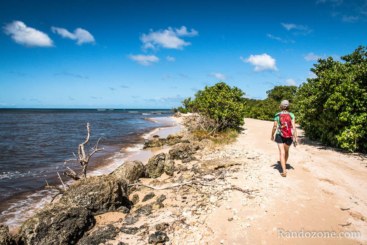 On vous emmène pour une randonnée en Guadeloupe le long de la plage