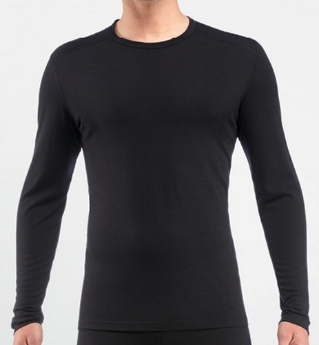 Icebreaker Oasis Long Sleeve Crewe 200 Black