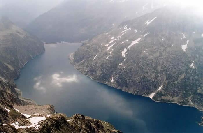 Lac de Cap de Long depuis le Turon de Néouvielle
