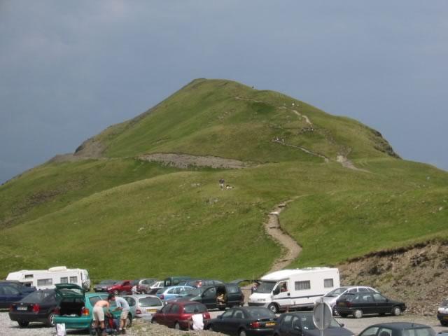 Le pic des Tentes depuis le parking du col des Tentes