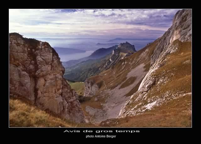 Dent de Landon et Lac d'Annecy vus depuis l'alpage de la Tournette