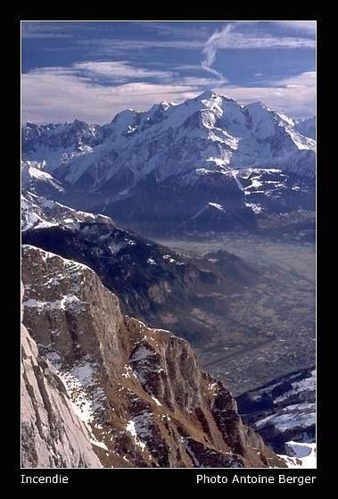 Mt Blanc vue depuis la Pointe d'Areu