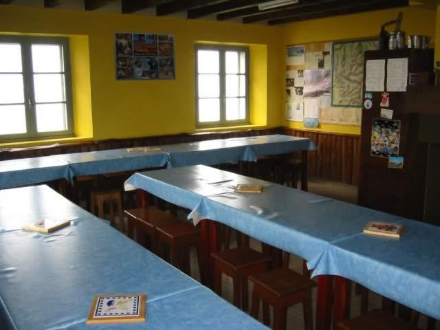 L'intérieur du refuge des Espuguettes