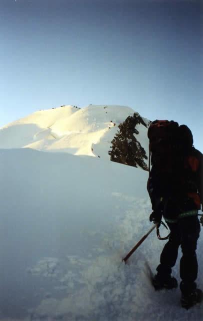 Le sommet du Mont Blanc en vue