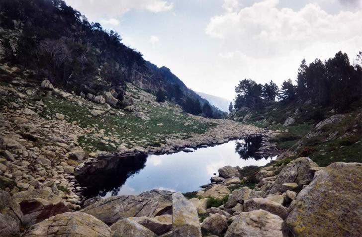 Un des lacs du vallon d'Estibère