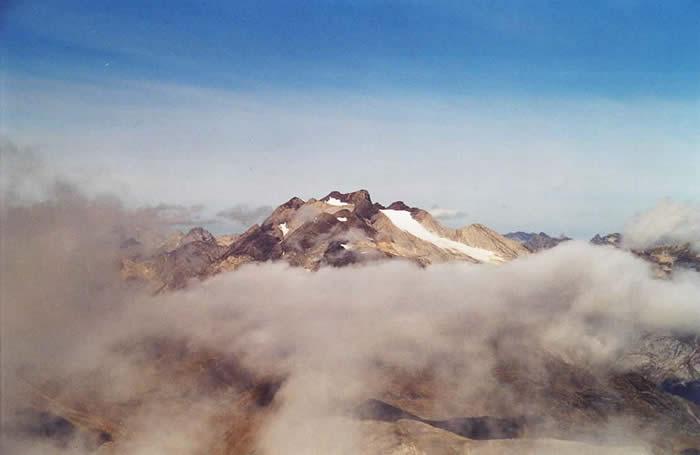 Glacier d'Ossoue le doigt de la fausse Brèche.