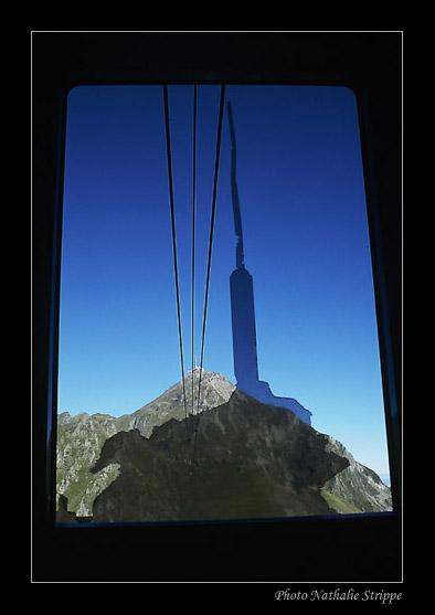 Montée en téléphérique au Pic du Midi de Bigorre