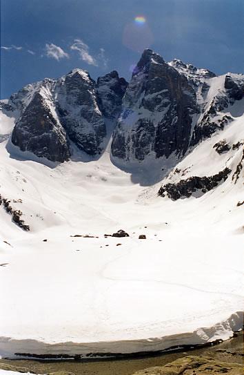Vue sur la face nord depuis le refuge des Oulettes de Gaube.