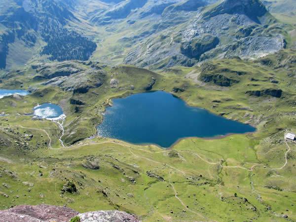 Les lacs Gentau/du Miey et Roumassot