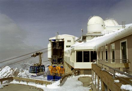 Arrivée du Téléphérique au pic du Midi de Bigorre