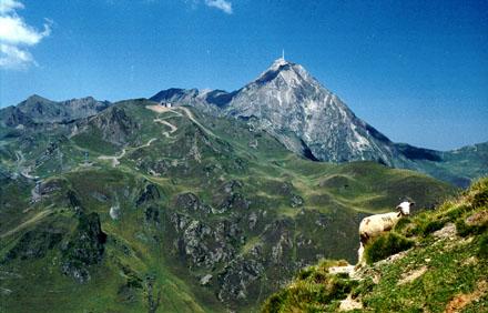 Pic du Midi de Bigorre depuis la crête du Serpolet