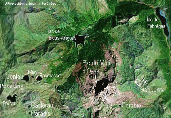 Vue satellite Pic d'Ossau (Imag'In Pyrénées)