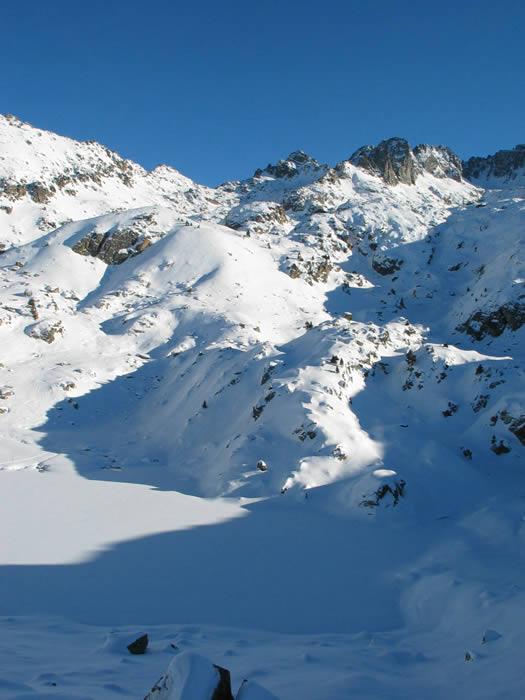 Lac de la Glère en hiver