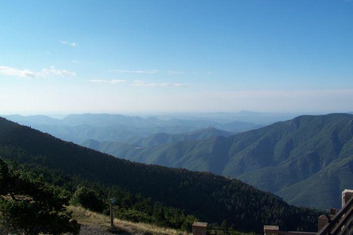 vue du sommet vers le sud-est