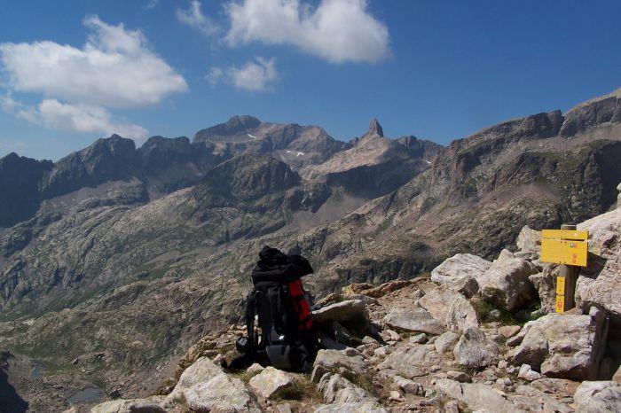Vue sur le mont Gelas (au centre)