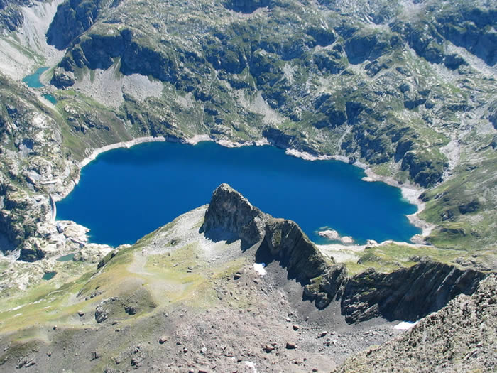 Lac d'Artouste depuis le sommet du Lurien 2826m