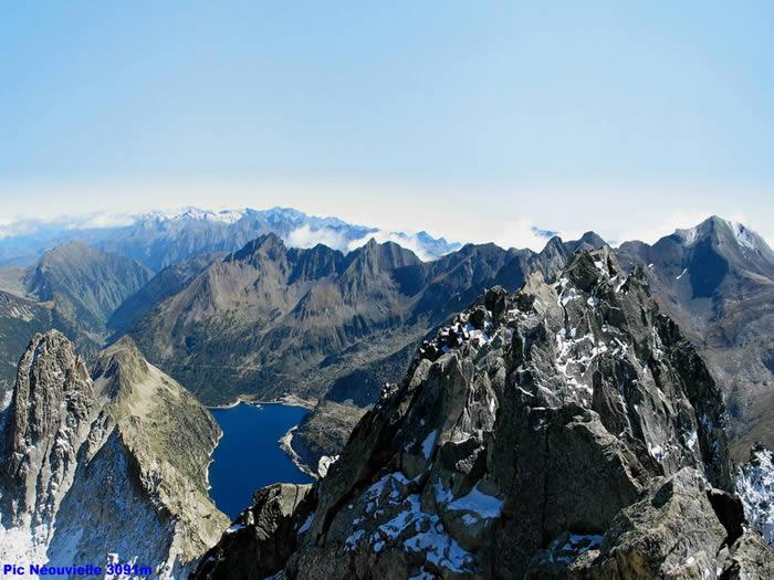 Lac de cap de long depuis le sommet du Néouvielle 3091m