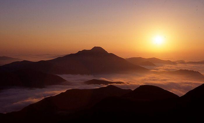 Soleil couchant sur l'Orhy