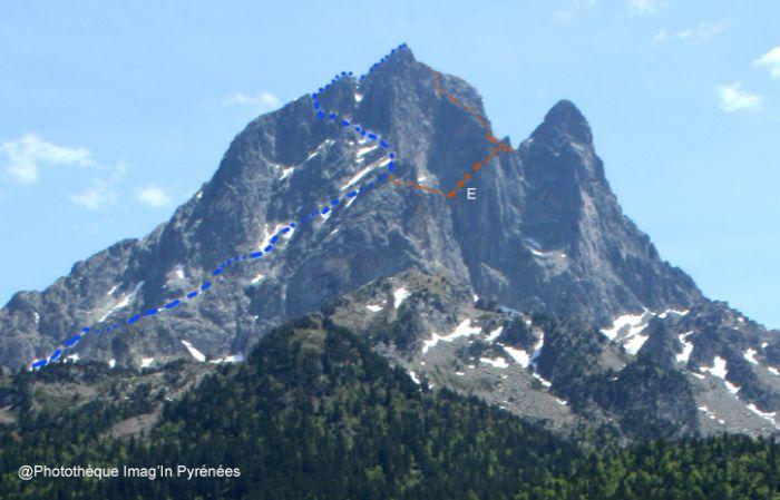 Pic du Midi d'Ossau face nord