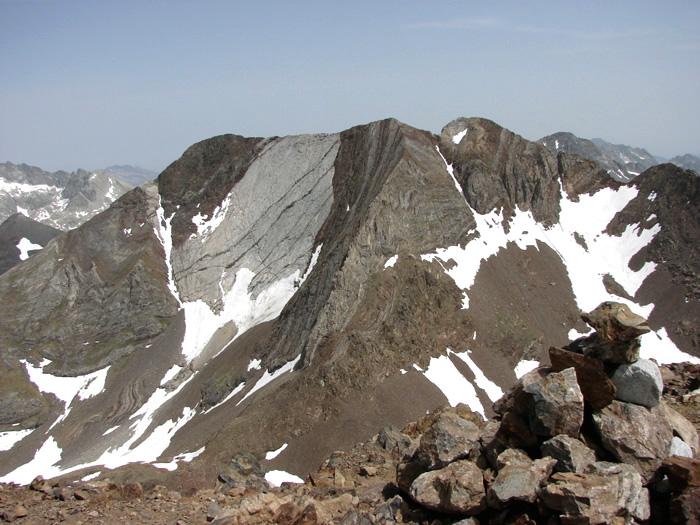 Les pics d'Enfer depuis le sommet du Garmo Negro