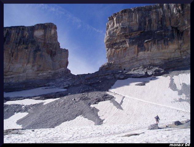 Brèche de Roland : beaucoup de neige à traverser