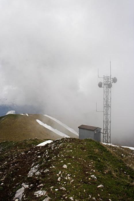 Antenne au sommet du Signal de Bassia