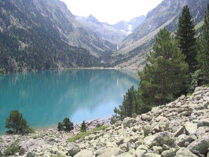 Le lac de Gaube avec au fond le Vignemale