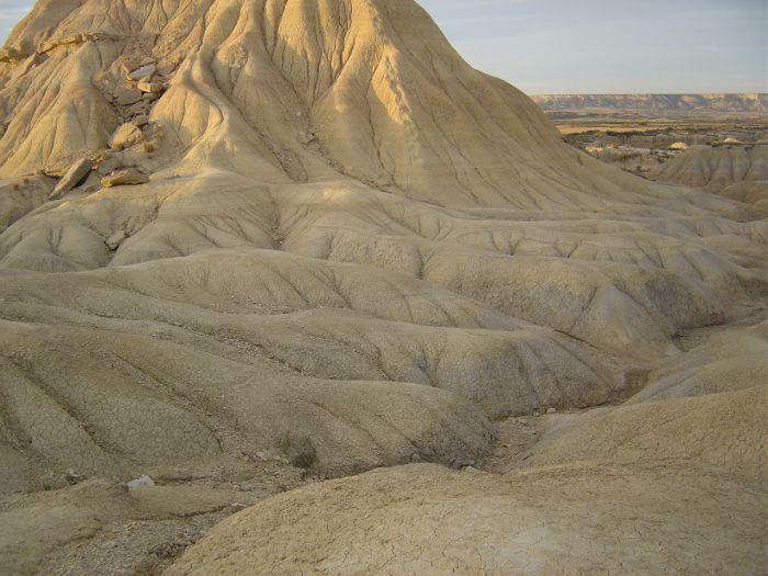 Relief dans le désert des Bardenas Reales