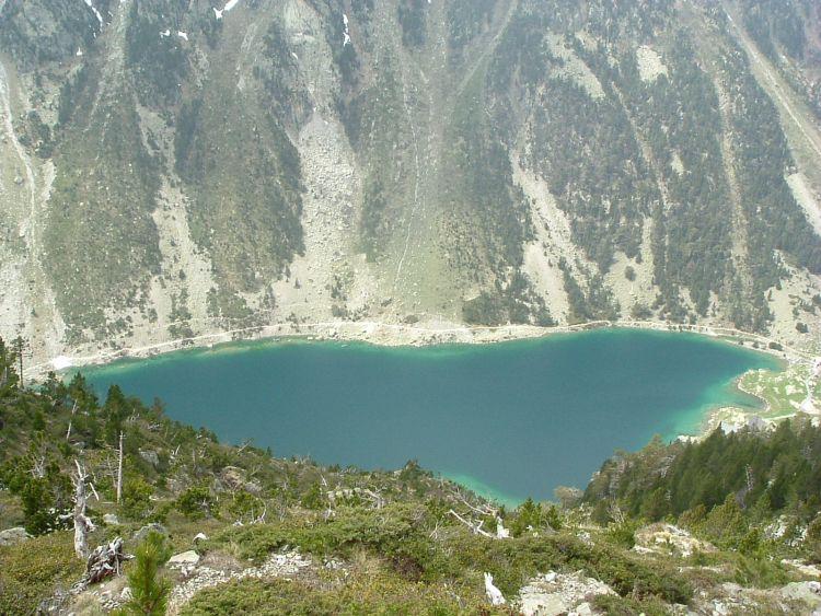 Lac de Gaube depuis la montée vers le pic Mayouret