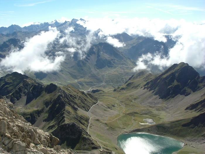 Lac d'Oncet depuis le pic du Midi de Bigorre