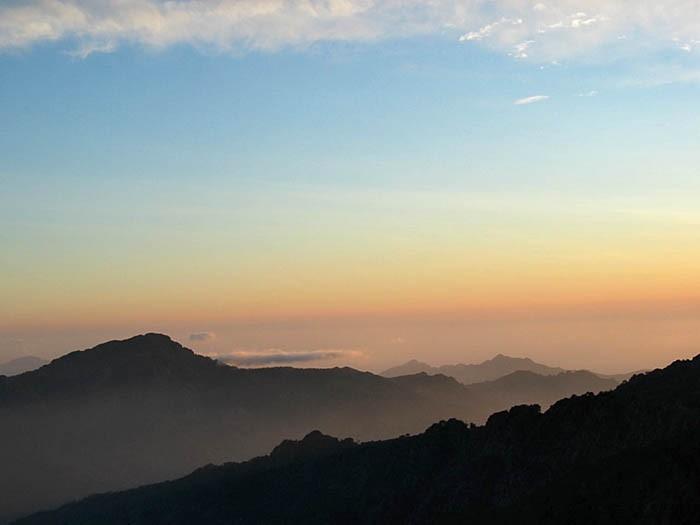 Coucher de soleil sur la Corse