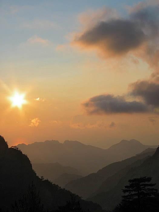 Coucher de soleil sur la terrasse du C arrozzu