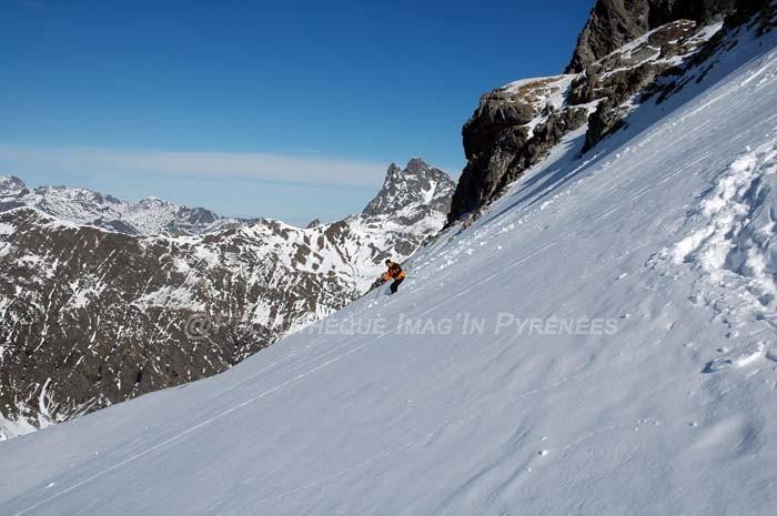 Descente en ski de l'Anayette