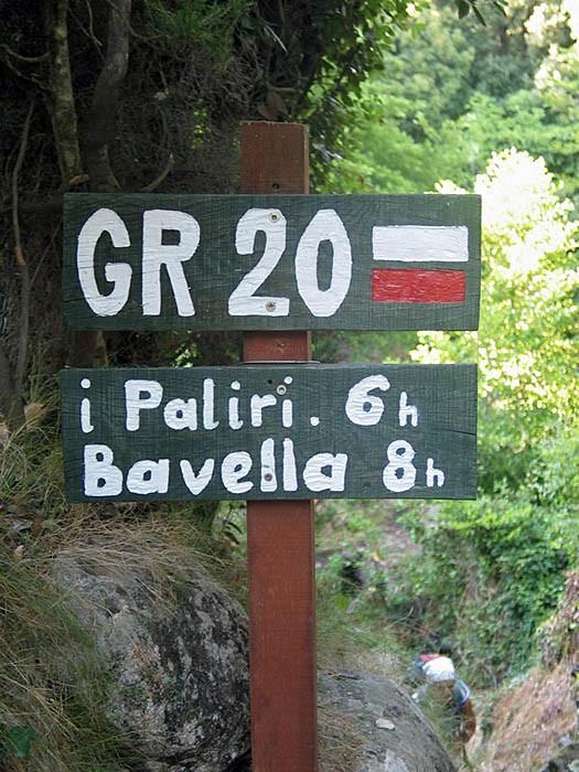 Panneau du GR 20