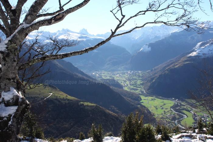 Vallée d'Ossau depuis pène de Béon