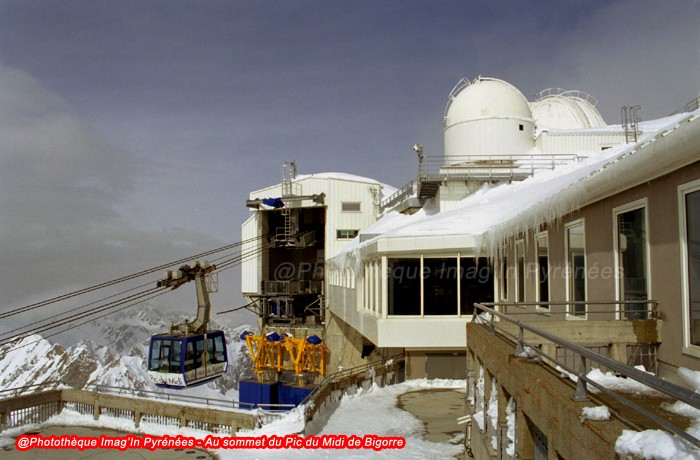 Pic du Midi de Bigorre : arrivée du téléphérique