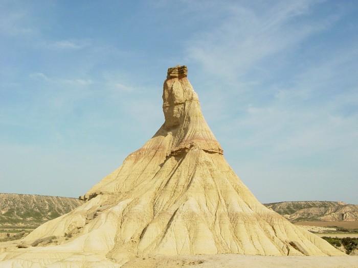 Sculpture naturelle dans le désert des Bardenas Reales