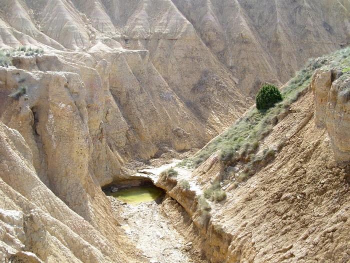 Il y a aussi de l'eau dans le désert des Bardenas Reales