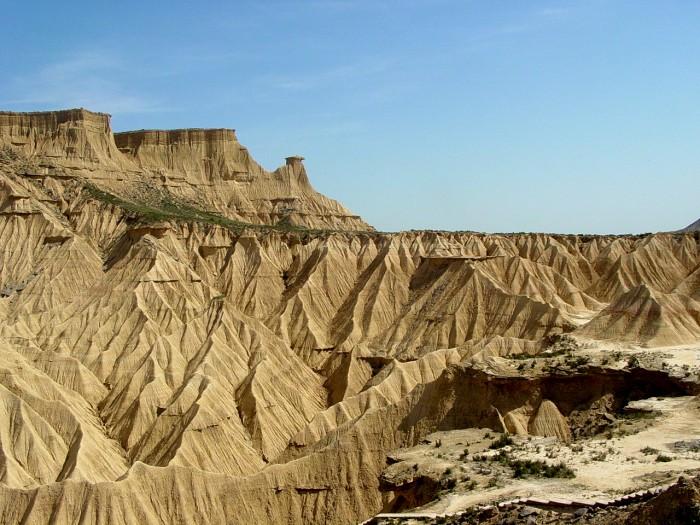Relief très esthétique du désert des Bardenas